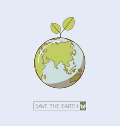 Eco earth in retro style vector