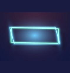Realistic neon sign icon vector