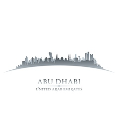 Abu dhabi uae city skyline silhouette vector