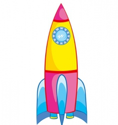rocket vector image