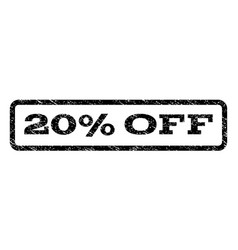 20 percent off watermark stamp vector image