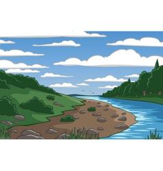 Cartoon valley vector image