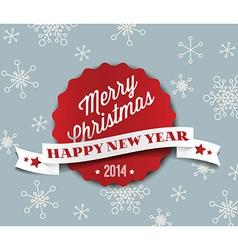 Simple vintage retro Christmas card 2014 vector image