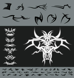 Tribal diy design pack vector