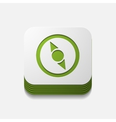 Square button compass vector