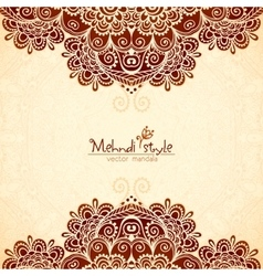 Vvintage flowers ethnic background in Indian vector image