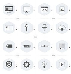 Office icon set black and white color vector