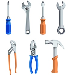 Repair tools flat icons set vector