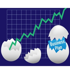 business eggs hatch vector image