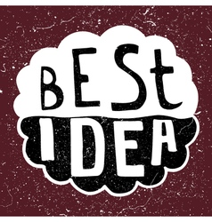 Best idea text vector