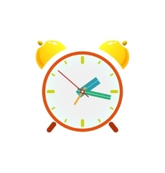 Alarm clock isolated on white vector