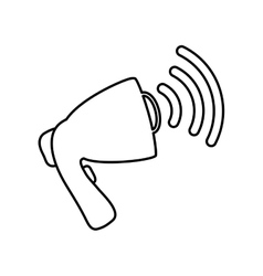 Bullhorn speaker symbol vector image vector image
