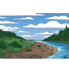Cartoon valley vector image vector image