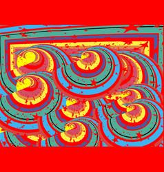 Circles colorful stars vector