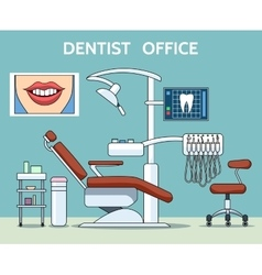 Dentist office vector image