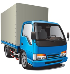 detailed image of small blue truck isolated on whi vector image vector image