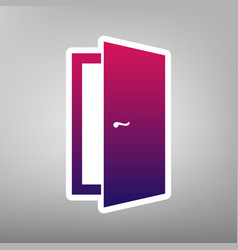 Door sign purple gradient vector
