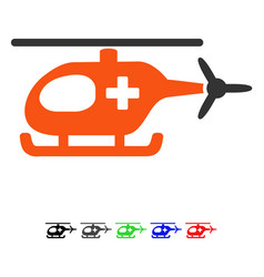 Emergency helicopter flat icon vector