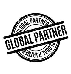 Global partner rubber stamp vector
