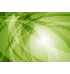 Green abstract tech wavy background vector