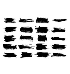 horizontal black ink scratches or brush watercolor vector image