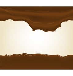 Hot chocolate splash vector image vector image