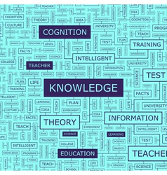 KNOWLEDGE vector image vector image