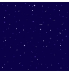 Nice bright stars in the night sky vector
