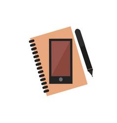 Planner notebook phone vector