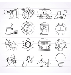 Power and energy production icons vector