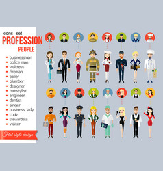 Profession people and avatars collection cartoon vector