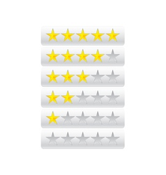 Rating stars isolated on gray vector image vector image