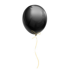 realistic black air balloon vector image vector image