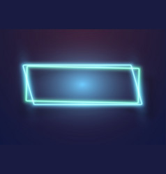 Realistic neon sign icon vector