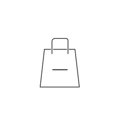 remove from shopping bag icon vector image