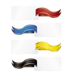 ribbon tag vector image vector image