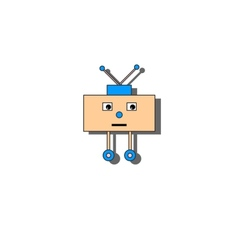 Sad little robot vector