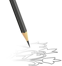 Sketch drawn by a pencil vector