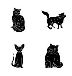 sphinx nibelungnorwegian forest cat and other vector image