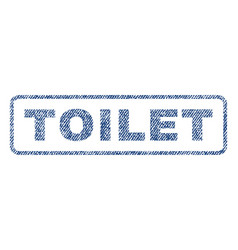 Toilet textile stamp vector