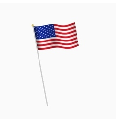 United States of America flag on white background vector image vector image