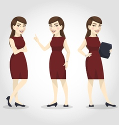 Female character asian business woman vector