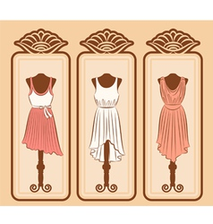 Fashionable dresses vector