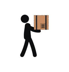 silhouette human lifting pose vector image