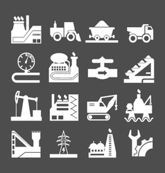 Set icons of industrial vector
