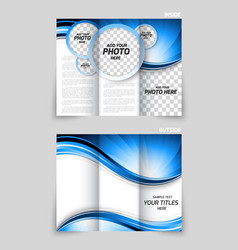 Tri-fold brochure design vector
