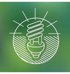Energy saving spiral eco lamp fluorescent light vector