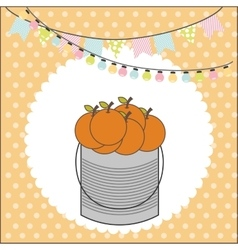 Orange basket vector