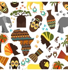 Africa seamless pattern vector