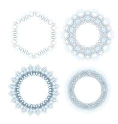 Abstract Wave Circle Frames vector image